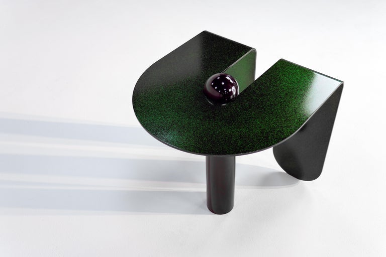 Powder-Coated Playful Geometric Side Table by Birnam Wood Studio and Suna Bonometti For Sale