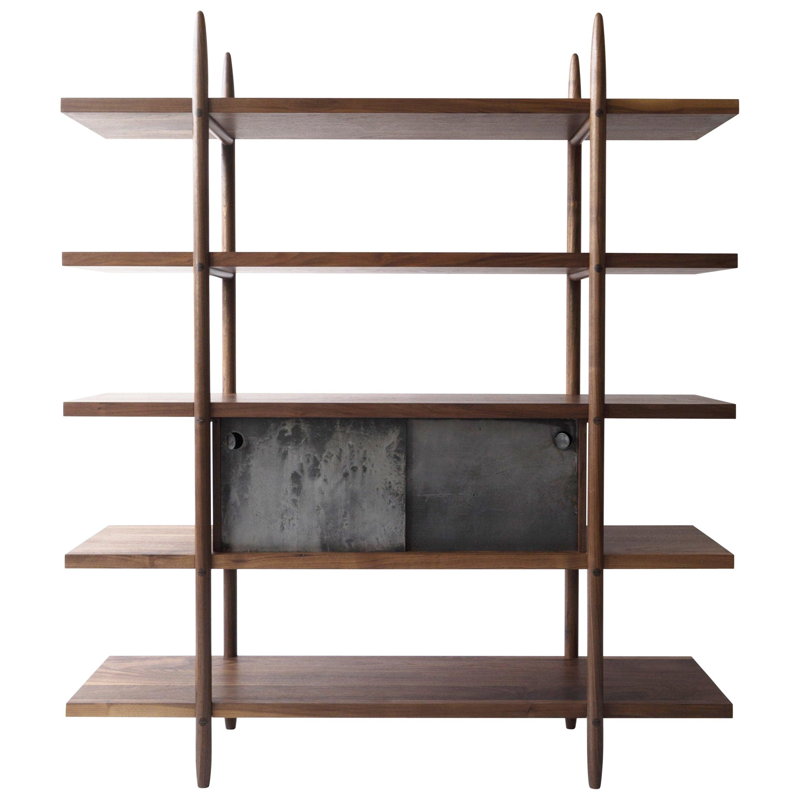 Deepstep Shelving Modular Storage with Fine Wood Detailing by Birnam Wood Studio