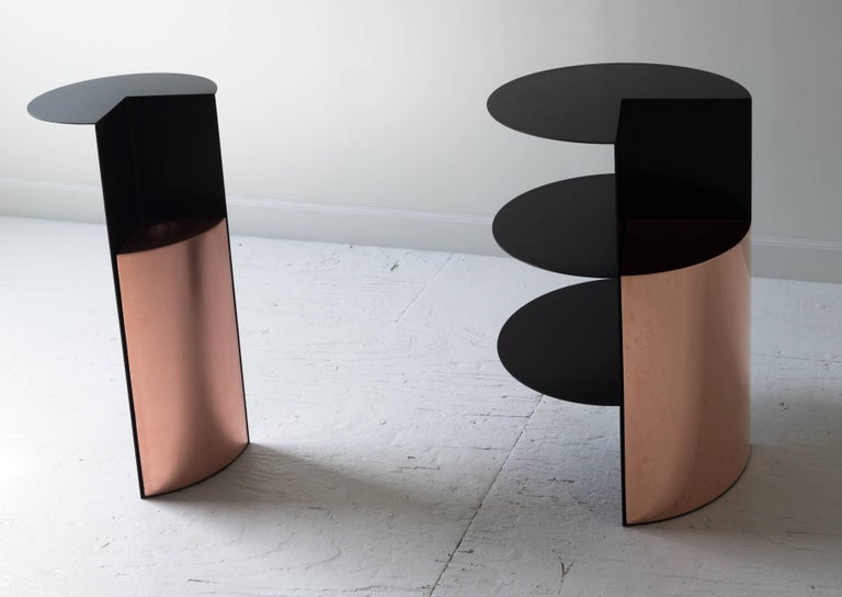 Total Garbage Side Table or End Table by Birnam Wood Studio, Powdercoated For Sale 1