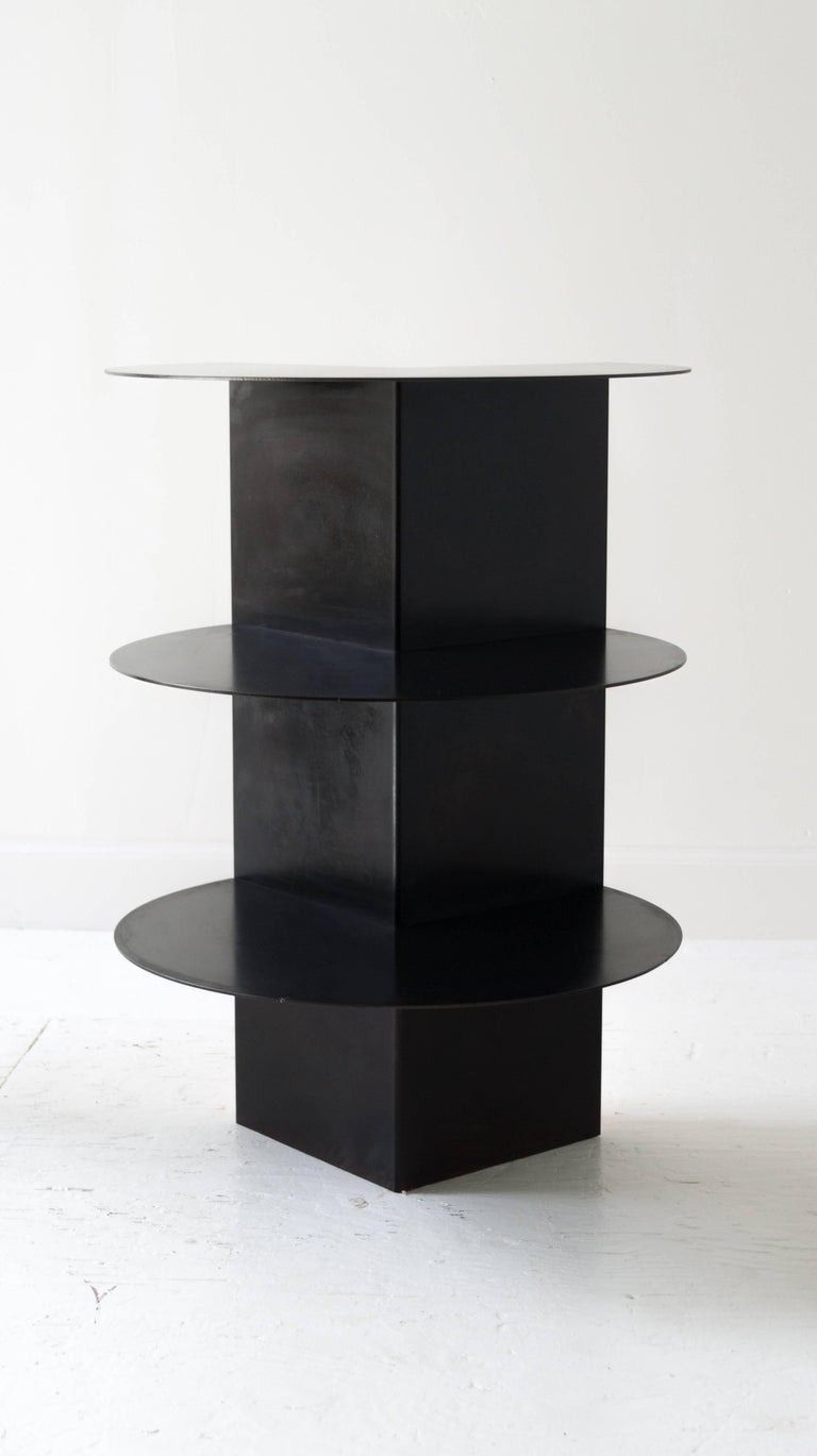 Contemporary Total Garbage Side Table or End Table by Birnam Wood Studio, Powdercoated For Sale