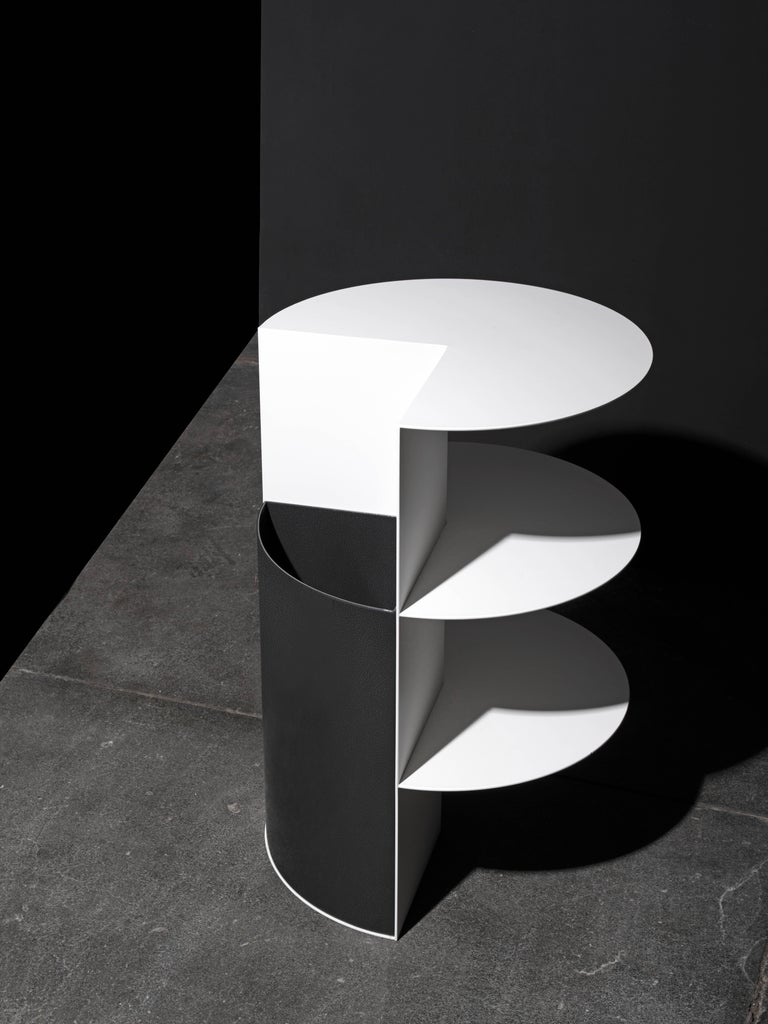 Steel Total Garbage Side Table or End Table by Birnam Wood Studio, Powdercoated For Sale