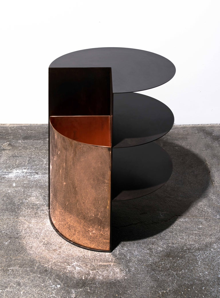 American Total Garbage Side Table or End Table by Birnam Wood Studio, Powdercoated For Sale