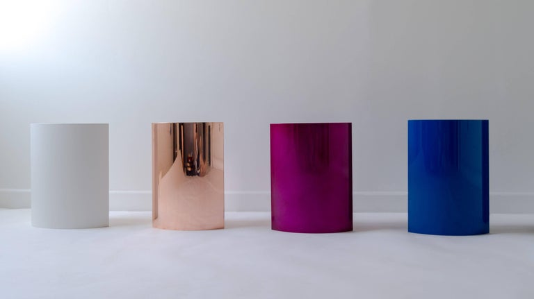 Polished Total Garbage Side Table or End Table by Birnam Wood Studio, Powdercoated For Sale