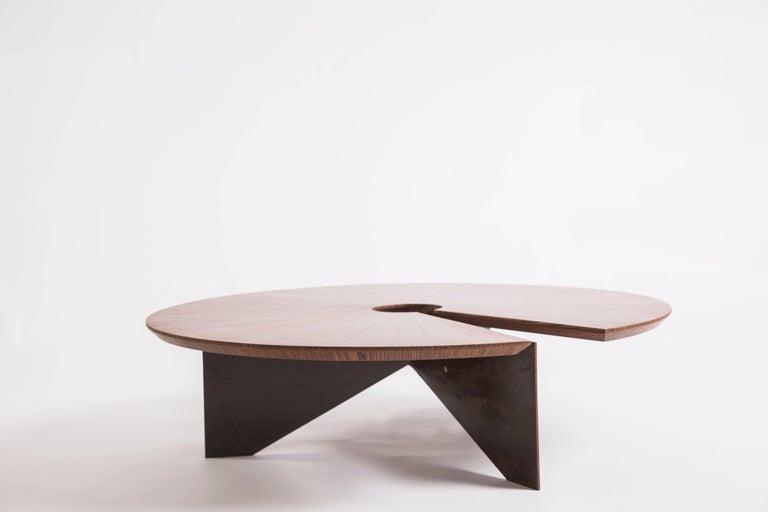 Brazilian Lena Coffee Table, Size Medium, Minimalist and Modern Style For Sale