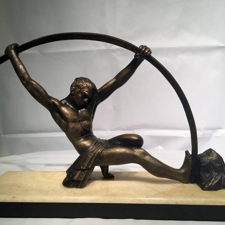 20th Century Demetrius Chiparus, Petit Bronze Athlete Sculpture, Art Deco, 1930 For Sale