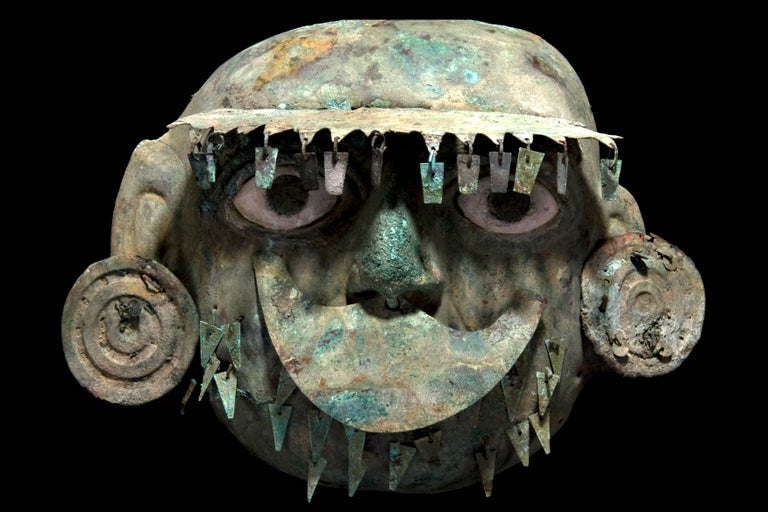 Moche Copper Bronze Mask For Sale At 1stdibs
