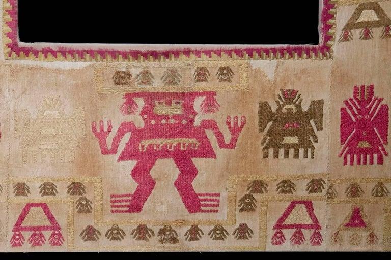 Peruvian Pre-Columbian Lambayeque Textile Ceremonial Panel For Sale