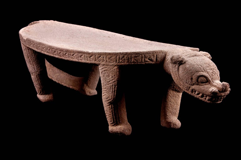 Published Pre-Columbian Nicoya Ceremonial Stone Seat, Ex Arizona Museum For Sale 3