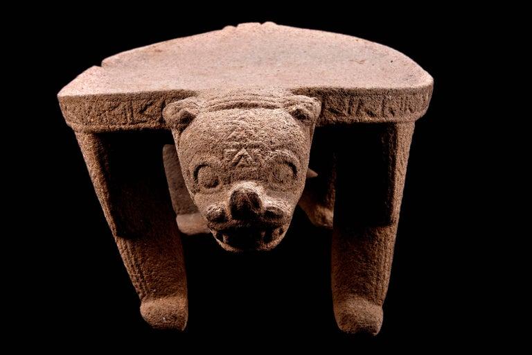 Published Pre-Columbian Nicoya Ceremonial Stone Seat, Ex Arizona Museum For Sale 2