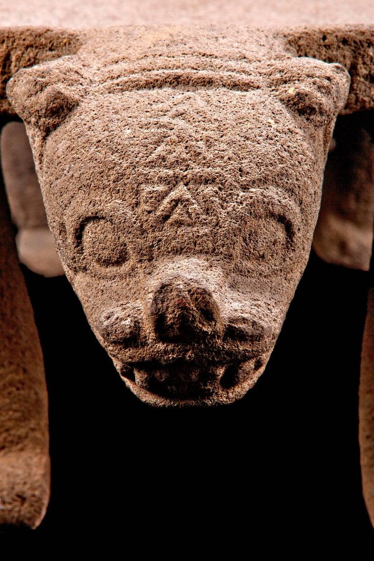 Published Pre-Columbian Nicoya Ceremonial Stone Seat, Ex Arizona Museum For Sale 1