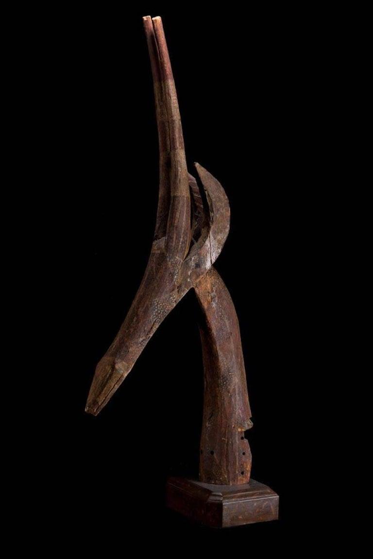Burkinabe Dance Head Ornament Representing an Antelope Head, Burkina Faso, Africa For Sale