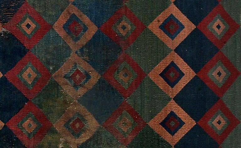 Pre-Columbian Ceremonial Inca Tokapu of Multicolor Geometric Diamond Shapes In Excellent Condition For Sale In San Pedro Garza Garcia, Nuevo Leon