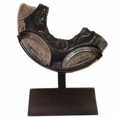 Our Broken Inheritance, Black Marble Sculpture by Hector Alvarado