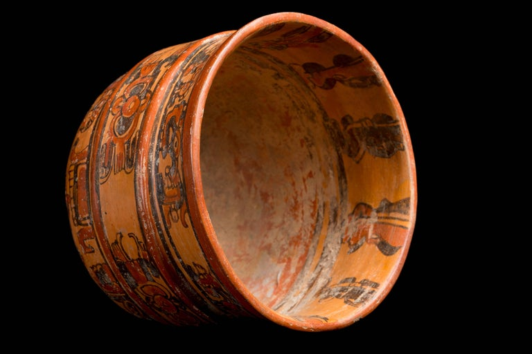 Mexican Mayan Ulua Valley Banded Vessel, Ex-Andy Warhol For Sale