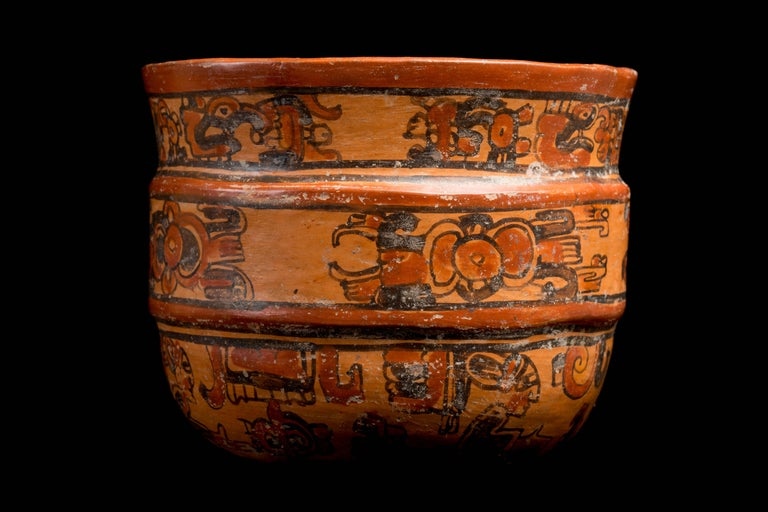 18th Century and Earlier Mayan Ulua Valley Banded Vessel, Ex-Andy Warhol For Sale