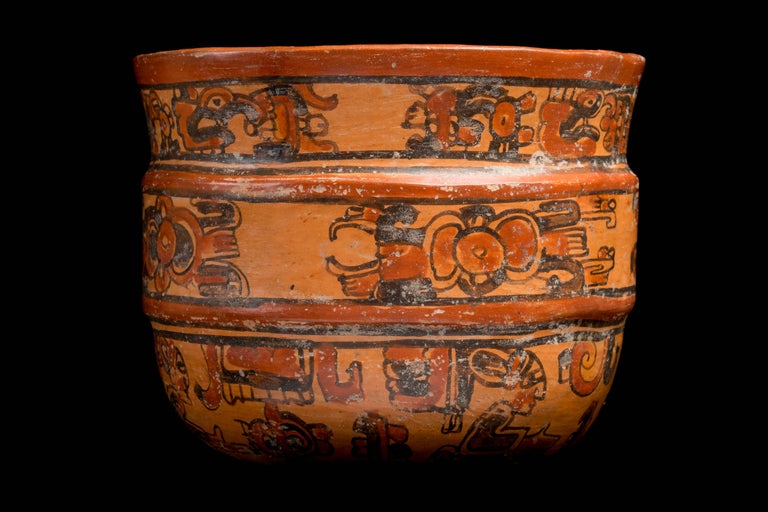 Mayan Ulua Valley Banded Vessel, Ex-Andy Warhol For Sale 1