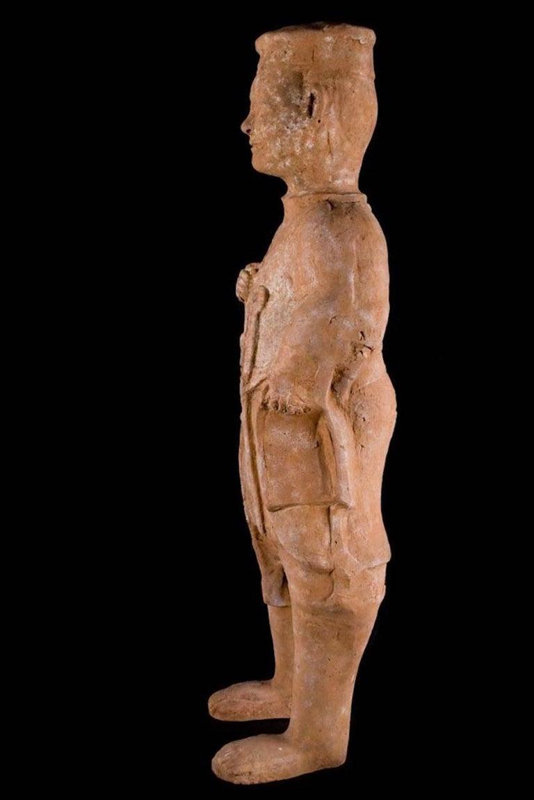 "Terracotta Han Dynasty Standing Horse Trainer ""Palafrenieri"" For Sale"