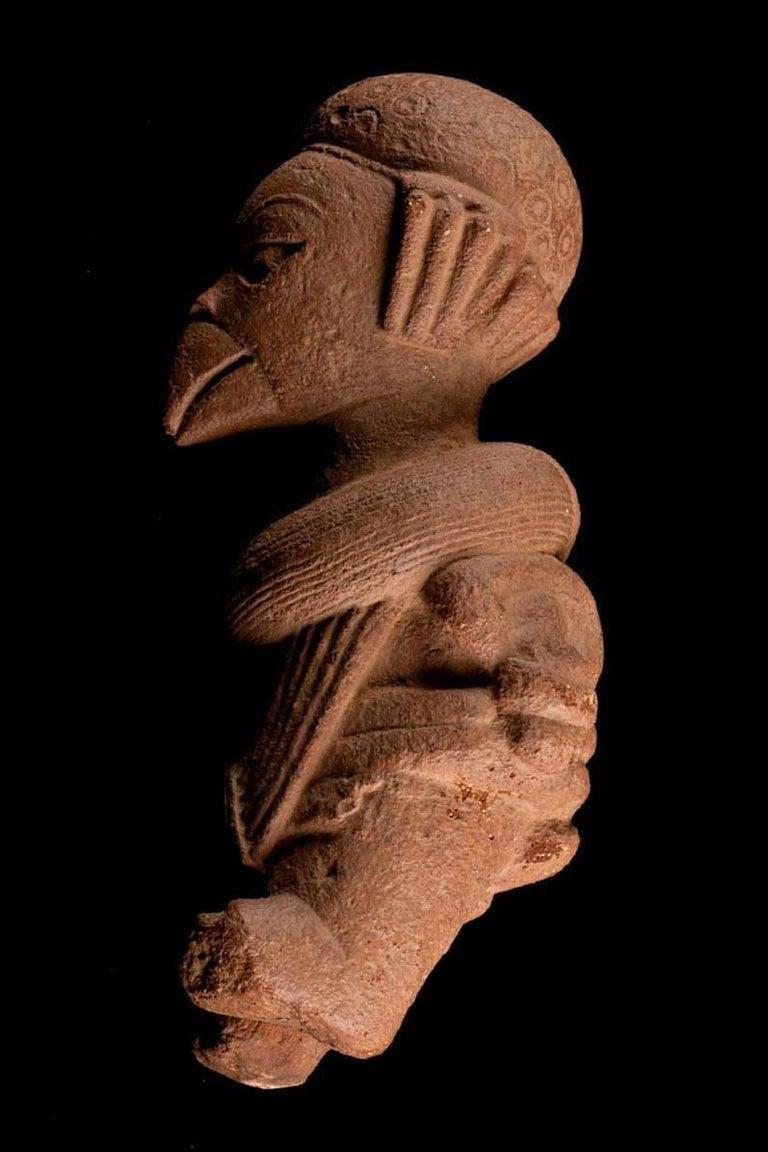 Rare Nok Terracotta Shaman in Bird Costume, Nigeria, Africa, 300-100 BC For Sale 1