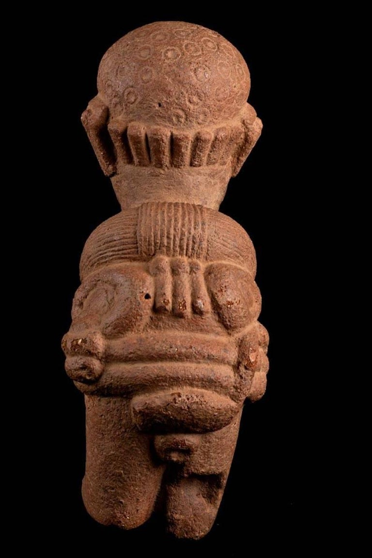 18th Century and Earlier Rare Nok Terracotta Shaman in Bird Costume, Nigeria, Africa, 300-100 BC For Sale