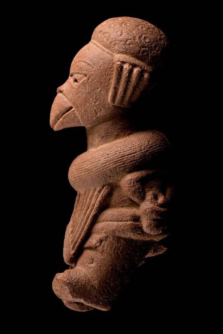 Nigerian Rare Nok Terracotta Shaman in Bird Costume, Nigeria, Africa, 300-100 BC For Sale