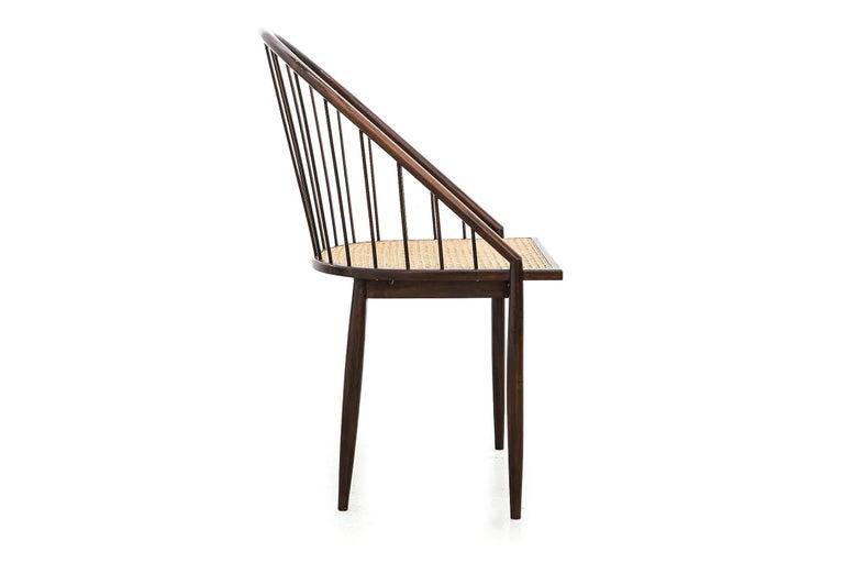 Mid-Century Modern Set of Four Joaquim Tenreiro's Curva Chair Midcentury Brazilian For Sale