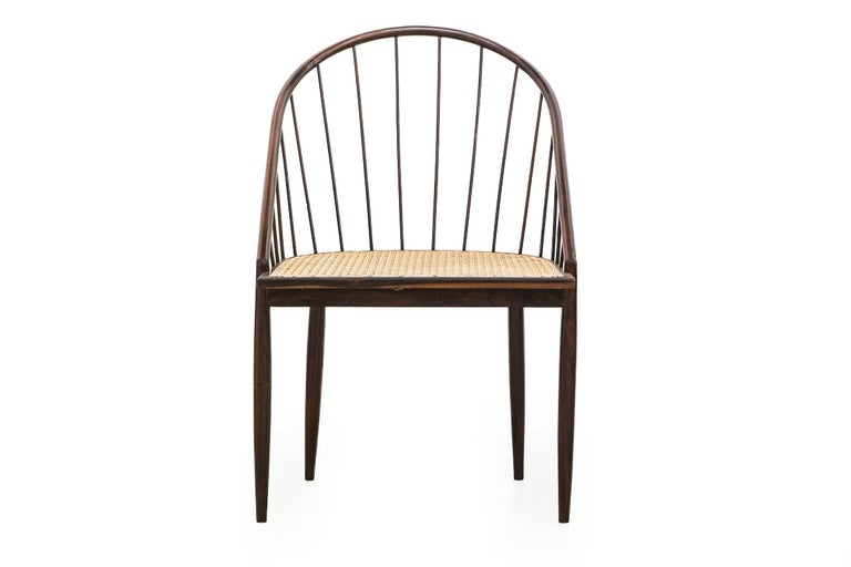 Set of Four Joaquim Tenreiro's Curva Chair Midcentury Brazilian In Excellent Condition For Sale In Sao Paulo, SP