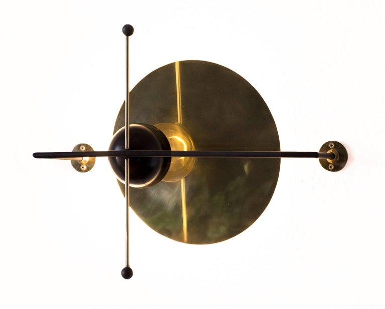 Mexican LMN Brass and LED Wall Sconce by Nomade Atelier For Sale