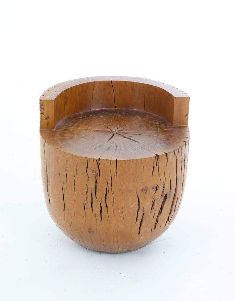 Handmade Tambor stool in Brazilian Pequi wood by Hugo França, Brazil, 2010.