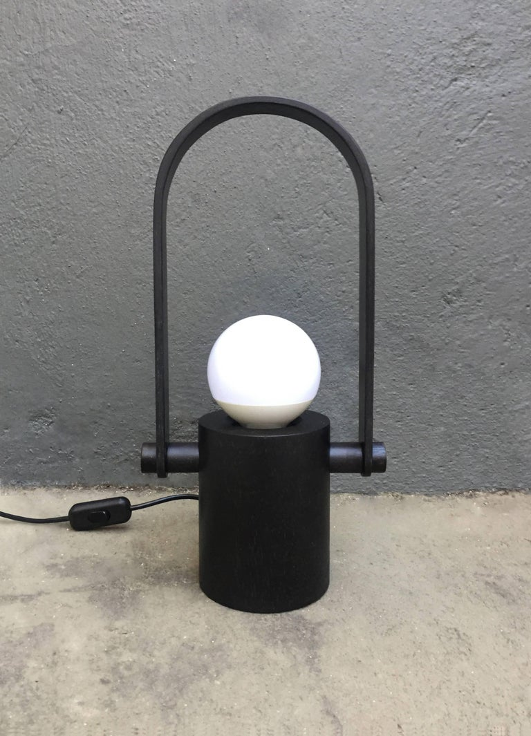 Handcrafted Hanging Lantern Lamp in Brazilian Contemporary Design In New Condition For Sale In Sao Paulo, BR