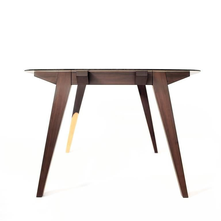 Contemporary Ban Tropical Wood Table For Sale