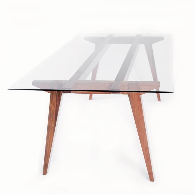 Mexican Ban Tropical Wood Table For Sale