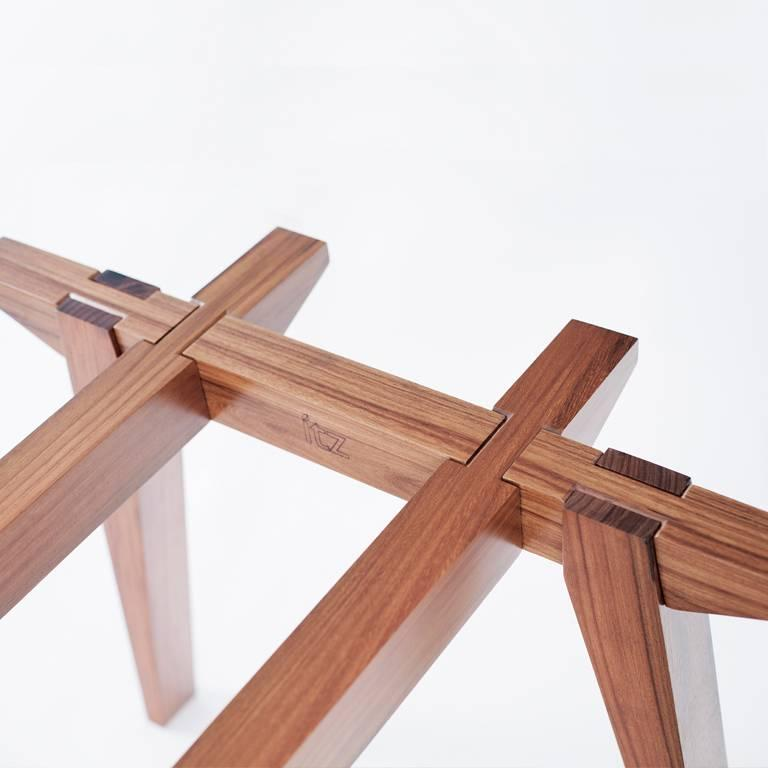 The Ban tropical wood table.