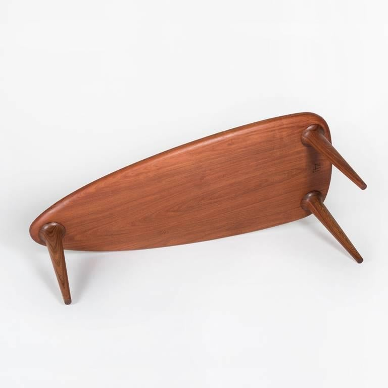 Joinery Tikin Coffee Table Set made in Black Cabbagebark Tropical Wood  For Sale
