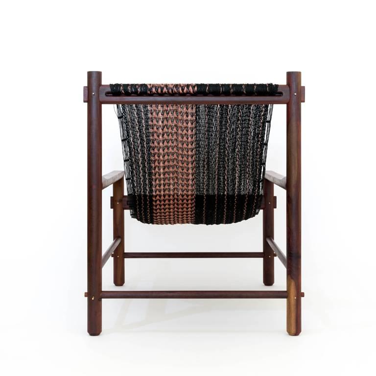 Turned K'áan Armchair in Katalox 'Mexican Ebony' Tropical Wood. Contemporary Design. For Sale