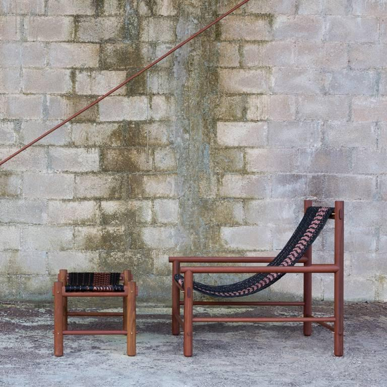 K'áan Armchair in Katalox 'Mexican Ebony' Tropical Wood. Contemporary Design. For Sale 2