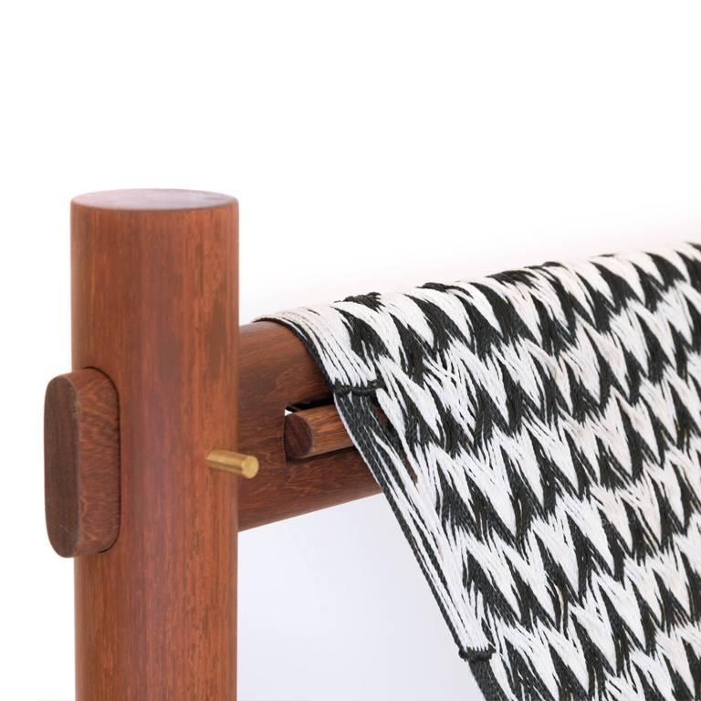 Modern K'áan Armchair in Machiche 'Black Cabbagebark' Tropical Wood contemporary design For Sale