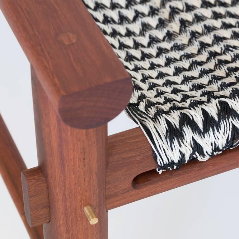 K'áan tropical wood armchair. Contemporay Design. Our love for hammocks was the inspiration for the concept. You will need a hammock wherever you are in the Yucatan Peninsula, and they are more than just accessories; they are used as beds, chairs,