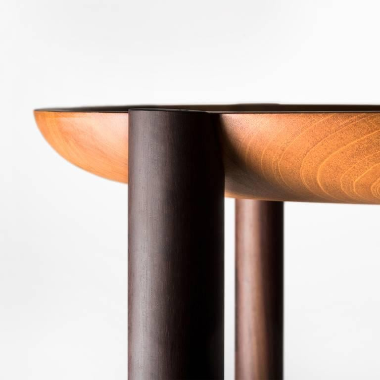 Ocum Low Side Table in Tropical Wood 6