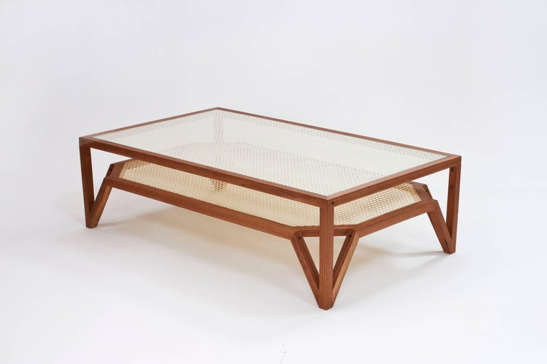 Moir Wood And Cane Coffee Table By O Formigueiro For Sale At 1stdibs