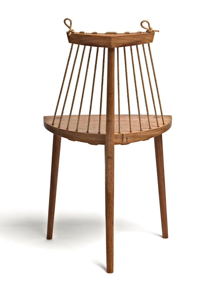 Contemporary Three Legged Chair in Brazilian Hardwood by Ricardo Graham Ferreira For Sale 1