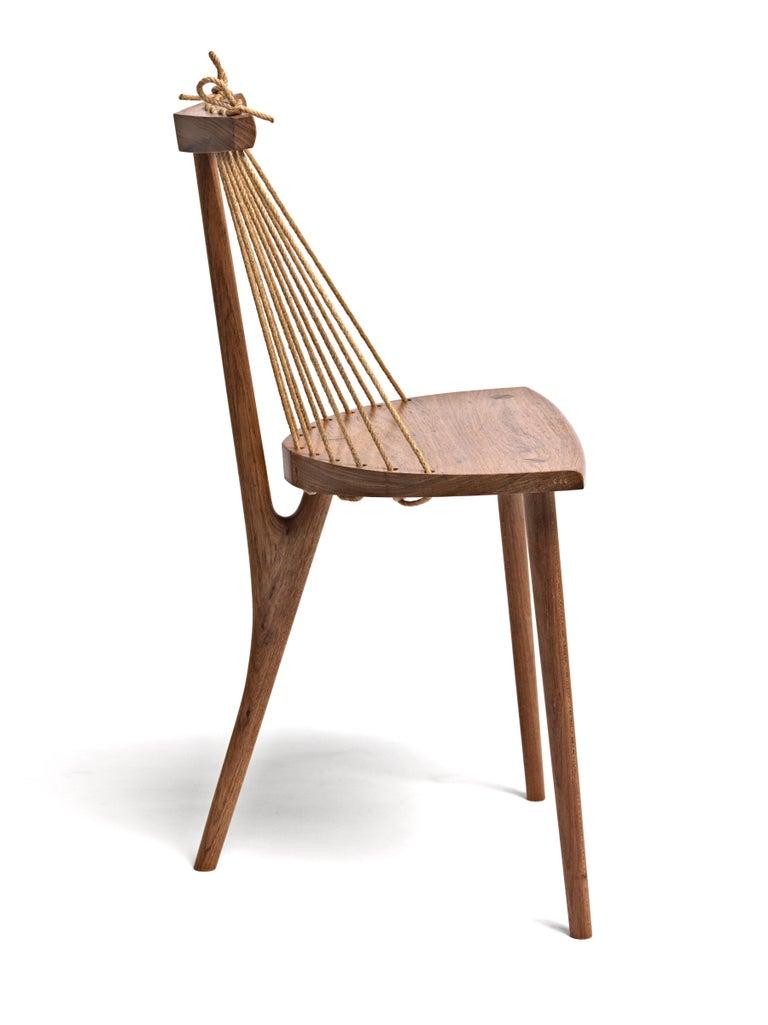 Contemporary Three Legged Chair in Brazilian Hardwood by Ricardo Graham Ferreira In New Condition For Sale In Nova Friburgo, RJ