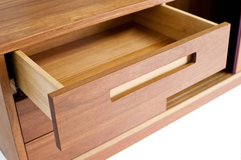 Contemporary Credenza Buffet Handcrafted in Brazilian Hardwood For Sale 2