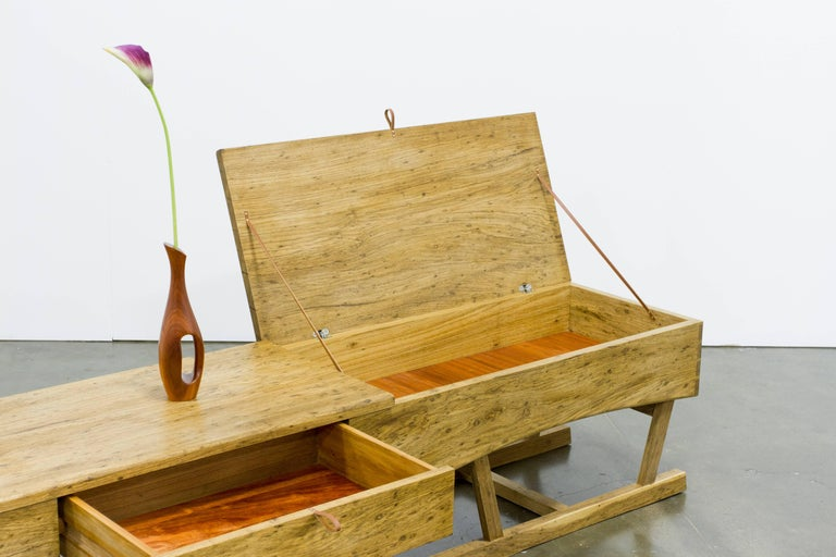 2010s Low Sideboard Brazilian Tropical Hardwood Handcrafted by Ricardo Graham Ferreira For Sale