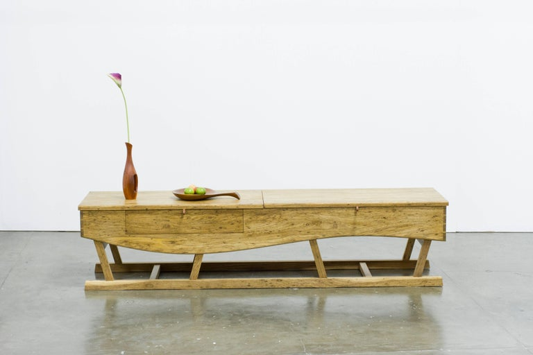 Elegant and functional low sideboard made in Brazilian solid
