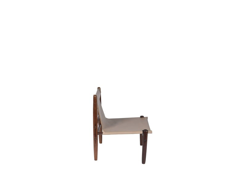 Midcentury Brazilian Armchair in Rosewood and Leather by unknown author, 1960s For Sale 1