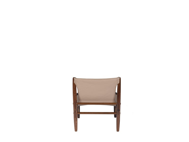 20th Century Midcentury Brazilian Armchair in Rosewood and Leather by unknown author, 1960s For Sale