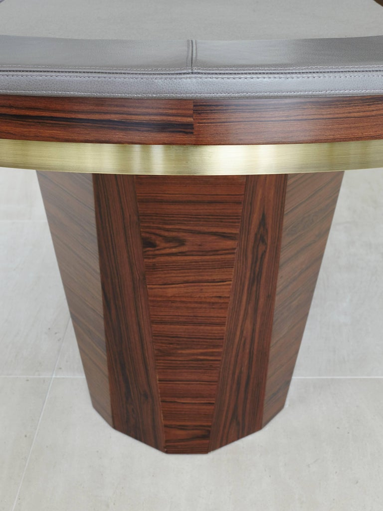 Contemporary Vermeil Poker Table by Fabio Stal for an All-in Experience, Wood, Brass Details For Sale
