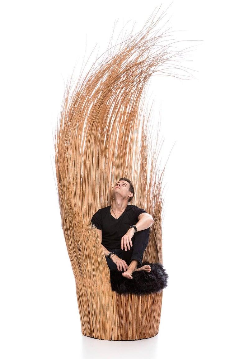 Brazilian contemporary wicker natural armchair 4