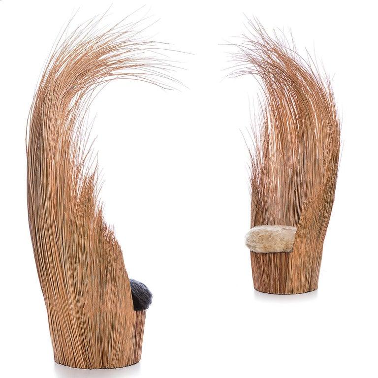 Brazilian contemporary wicker natural armchair 5