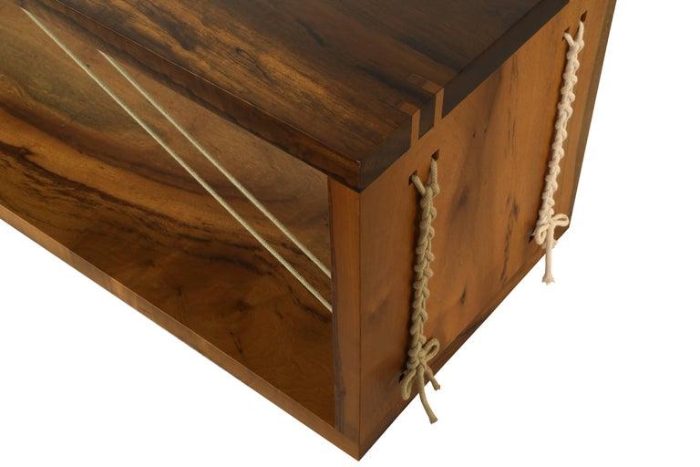 Brazilian 'Entrelaçados' Bench in Imbuia Hardwood  For Sale